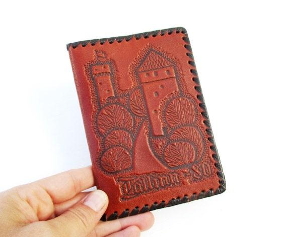 Leather Notebook Cover Estonian Note Book Tallinn 80