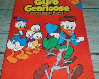 Gyro Gearloose and The Disney Ducks Dynabrite Comic Book Whitman Huey Duey and Louie