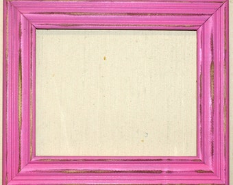 """F003 2"""" Pink Distressed Picture Frame"""