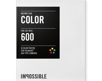 Instant Film for Polaroid 600 Cameras Color White Border  PRD2785 Impossible Project