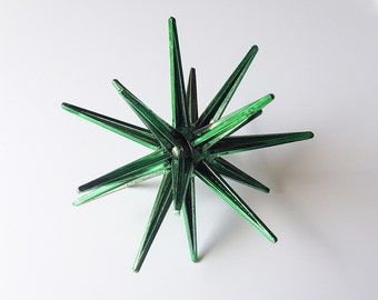 Vintage green starburst ornament retro atomic christmas decoration star holiday decor