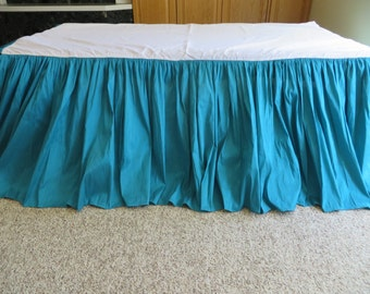 Teal Bed Skirt Etsy
