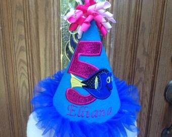 Girls Dory Birthday Hat  - Girls Finding Dory Birthday Hat