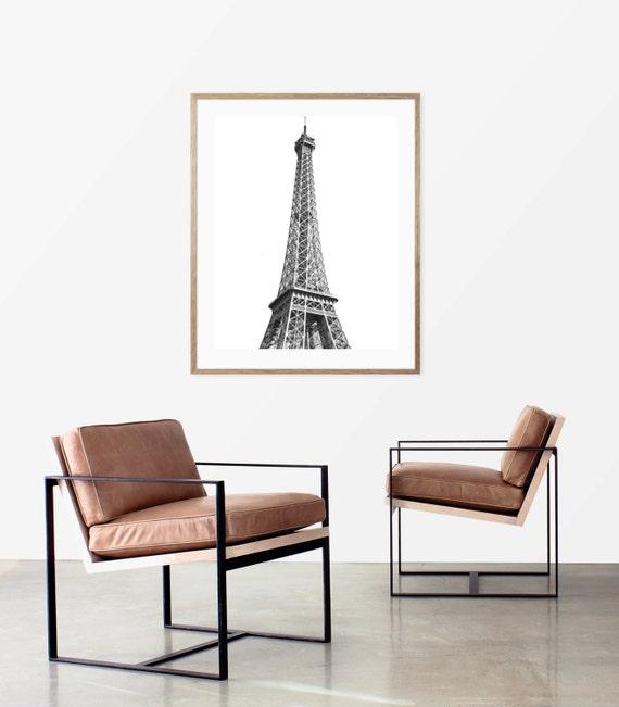 Eiffel Tower Wall Art, Paris Photography, Minimalist Art, Paris Bedroom Decor, Black and White Print, Eiffel Tower Decor, Francophile Gift
