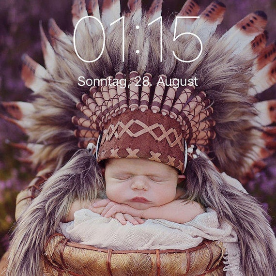 For 0 to 9 months Baby / Newborn : Brown Headdress for the little ones !