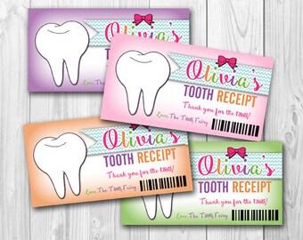 Tooth Fairy Receipts     Printable
