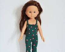 """Handmade Doll Clothes Top & Pants fit 13"""" Corolle Les Cheries Dolls Handcraft L"""