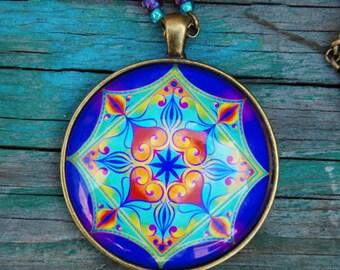 The Spiritual Heart mandala pendant