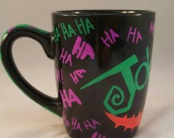 The Joker - Hand Painted Joker Graffiti Mug - One of a kind