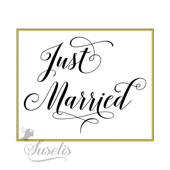 Just Married Wedding sign Wedding Reception Sign Gold by ...