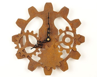 Steampunk Gear Clock - Industrial Gears