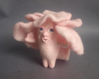 Baby Alien Jellyfish, Monster Alien Baby, Needle Felted Animals, Felted Creature, Wool Soft Sculpture, Art Doll, Collectible