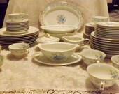 Reserved for Louise 62 pc Noritake China Service For 8 Retired Pattern Louise 5204