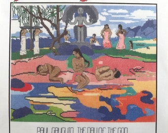 Counted Cross Stitch Pattern~DAY of the GOD~Paul Gauguin~15x13.5~Ladybug Designs