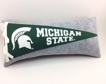 Michigan State University Spartans Pennant Pillow