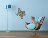Texas Laser Cut State Map | Wooden Wall Art | Oak