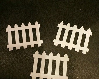 Picket Fence Die cut shapes x 20