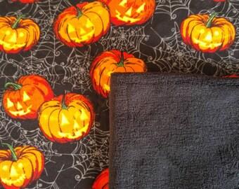 Halloween Jack-o-Lantern blanket