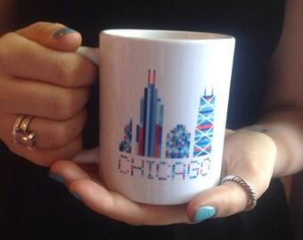 Chicago Mug | Chicago Skyline Coffee Mug | Made In Chicago Mug | Chicago Gift
