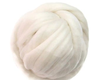 SALE 16 Micron Merino wool Roving Luxury Fiber for felters and spinner (Natural White)