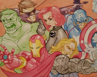 The Avengers - Original Watercolor Illustration