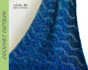 Katara shawl, Avatar scarf and shawl series, CROCHET PATTERN    Instant Download