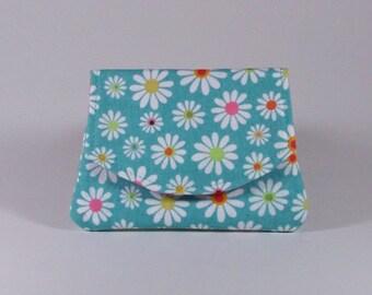 Daisy Business Card Holder Organizer Billfold Small Cotton Wallet