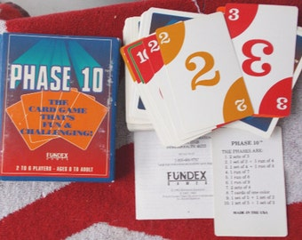 Vintage Phase 10 Card Game Fundex Complete