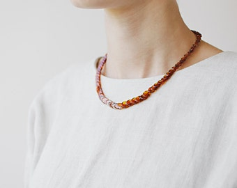 Amber necklace adult / Cognac amber necklace