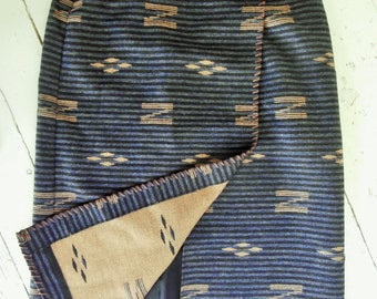 Vintage, 1990's, Wool, Navajo, Blanket Skirt. Long Wrap, Ralph Lauren, Size 12