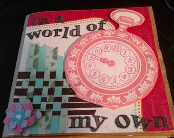 Custom Personalized Mini Scrapbook Paperbag Album