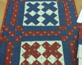 Patriotic Celebration Table Runner Kit Complete Quilt Kit