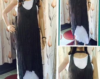 Cotton Sleeveless Summer Gypsy Boho  Hippie  Beach Woman Dress