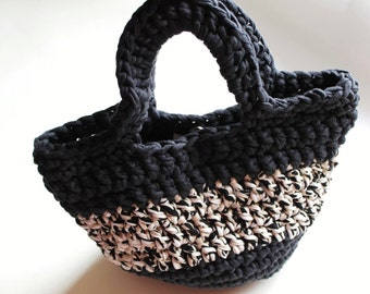 Crochet basket. Handbag