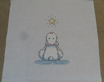 Make A Wish Completed Cross Stitch