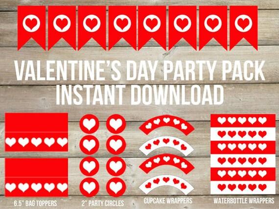Valentine's Day Party Printables, Valentine Party, Valentine Printables, Instant Download