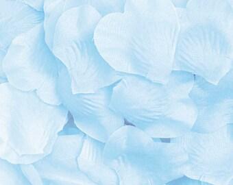 Silk Flower Petals, Light Blue 500 pack - Aisle Decor, Wedding Guest Toss, Wedding Decor, Flower Girl - Wedding / Event Supplies & Decor