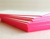 ADD-ON - Edge Painting for Stationery, Business Cards, Save the Date, Birth Announcements, Baptisms, Pink, Hot Pink, Neon