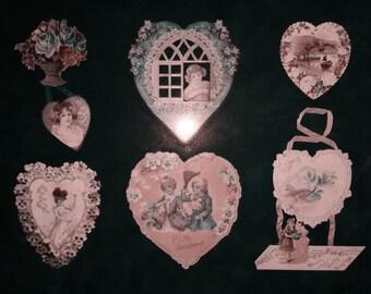 Framed Vintage Valentines