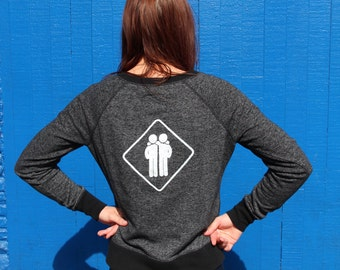 Quilted front Black and Grey Friend Zone sweatshirt
