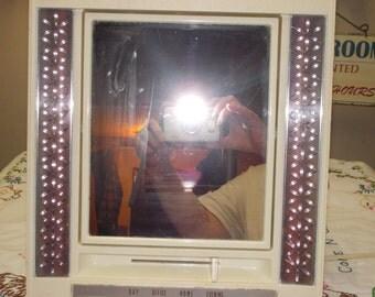 vintage lighted makeup mirror