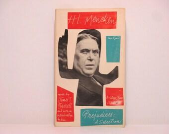 Paul Rand Cover Design ~ Prejudices: A Selection by H. L. Mencken 1961 Vintage Book