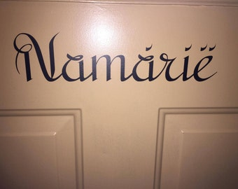 Elvish Inspired Door Decal