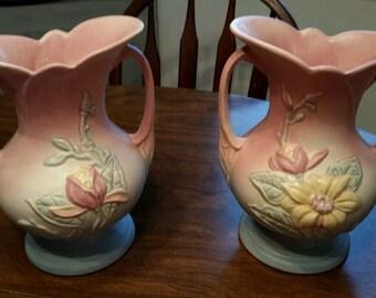 Set of 2 Hull Art pottery vases