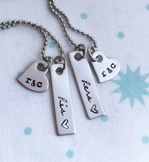 to Hers, His, Couples Jewelry, Anniversary Gift, Wedding Present, Gift ...