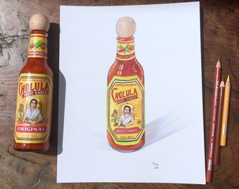 CHOLULA  |  8x10 print of original colored pencil drawing