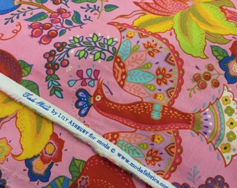 Lily Ashbury Fabric Tradewinds Floral Empress in Empress Pink By the FQ 1/4 Yard 100 Percent Quality Cotton