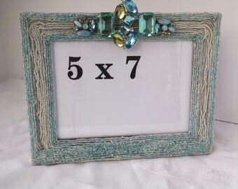 Aquamarine Dreams One Of A Kind 5 x 7 Picture Frame