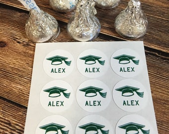 Graduation Party Supplies, Hershey Kiss Stickers, Graduation Party, 2018 Graduate, Graduation Gifts, Personalized Candy Labels, Stickers