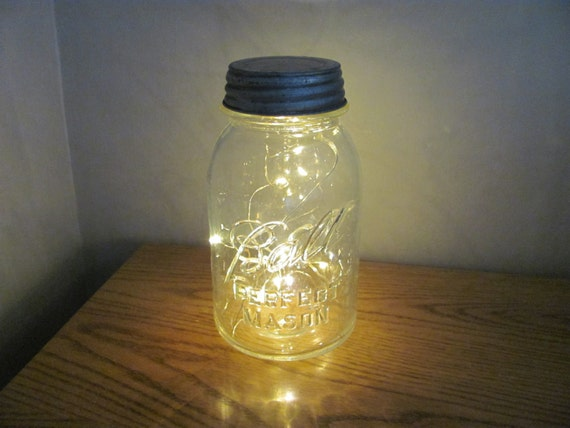 String Lights In A Mason Jar : Mason Jar Battery Operated String Lights by GramsHomeCreations
